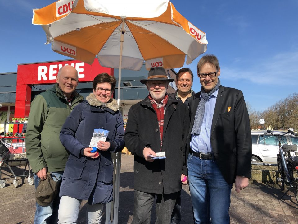 von links: Franz-Josef Gövert, Ursula Beckmann-Wübbelt, Hans Fromm, Hans Duve, Michael Mergen